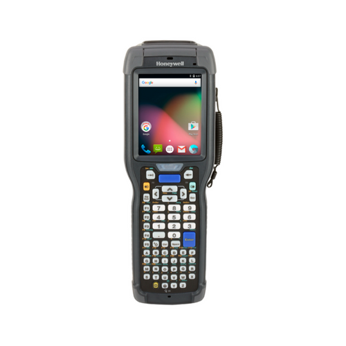 CK75 Mobile Computer~OS: Android 6 Marshmallow (GMS); Scanner: 2D Extended Range Area Imager; Keyboard: AlphaNumeric; Camera: No Camera; Durability: Rugged Standard Temperature; Domain: FCC (North America)