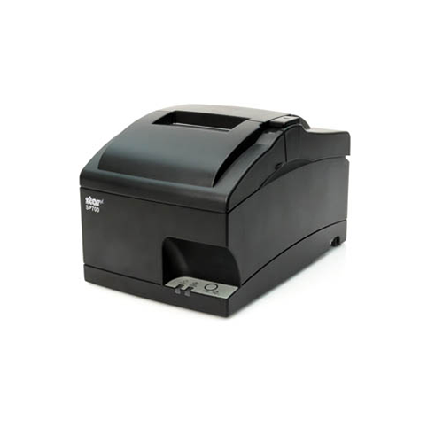 SP742 Kitchen Printer~Exit Option/Optional Features: Auto-Cutter, Internal Rewinder; Interface Options: Parallel; Optional Features: N/A; Color: Gray; Optional Features: Journal Capability