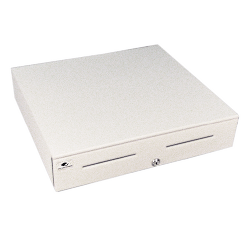 Series 4000 Cash Drawer: 1816~Drawer Front Style: Painted Front (color matched to case); Interface Type: Hardwired for Printer; Color: Cloud White; Size (W x D x H): 18.0in. x 16.7in. x 4.2in....