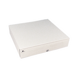 Series 4000 Cash Drawer: 1816~Drawer Front Style: Painted, non-media front; Interface Type: Smart SerialPRO®; Color: Cloud White; Size (W x D x H): 18.0in. x 16.7in. x 4.2in.; Options: Coin Roll Storage Till (standard), Keyed Randomly