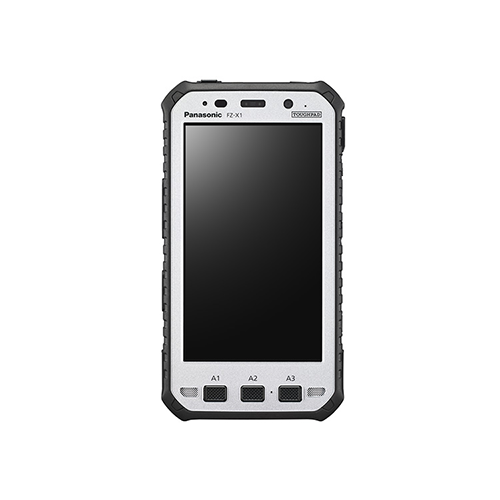 Toughpad FZ-X1 Rugged Mobile Computer~Display: 5in. HD Gloved Multi-Touch LCD; Healthcare: No; Form Factor: Handheld; OS: Android 5.1.1; CPU: Qualcomm APQ8064T 1.7GHz
