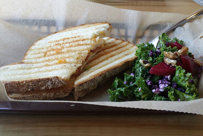 Full Bloom Coffee & Craft panini sandwich