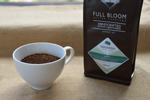 Full Bloom Coffee Grounds for French press