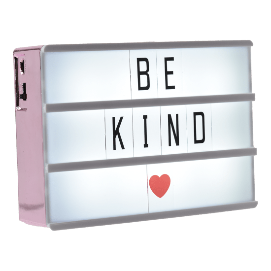 A6 Rose Gold Letter Board Light Box - Funky Fish Trinidad