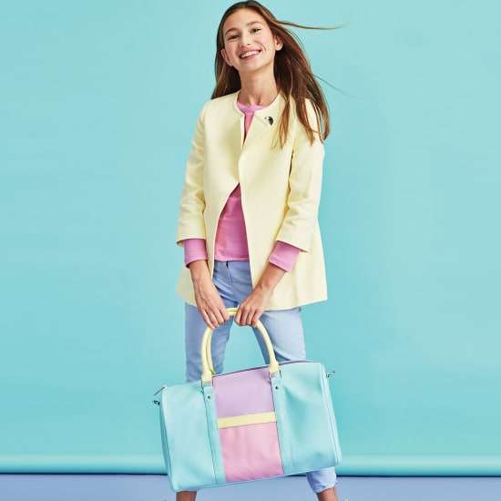 Color Block Duffle Bag