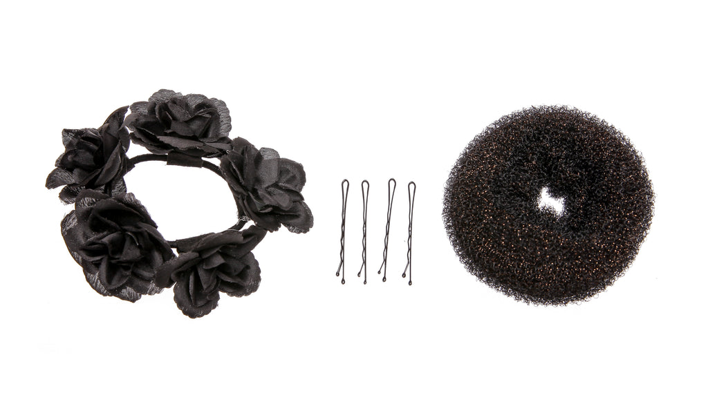 Hair Donut, Clips and Hair Tie Set - Funky Fish Trinidad