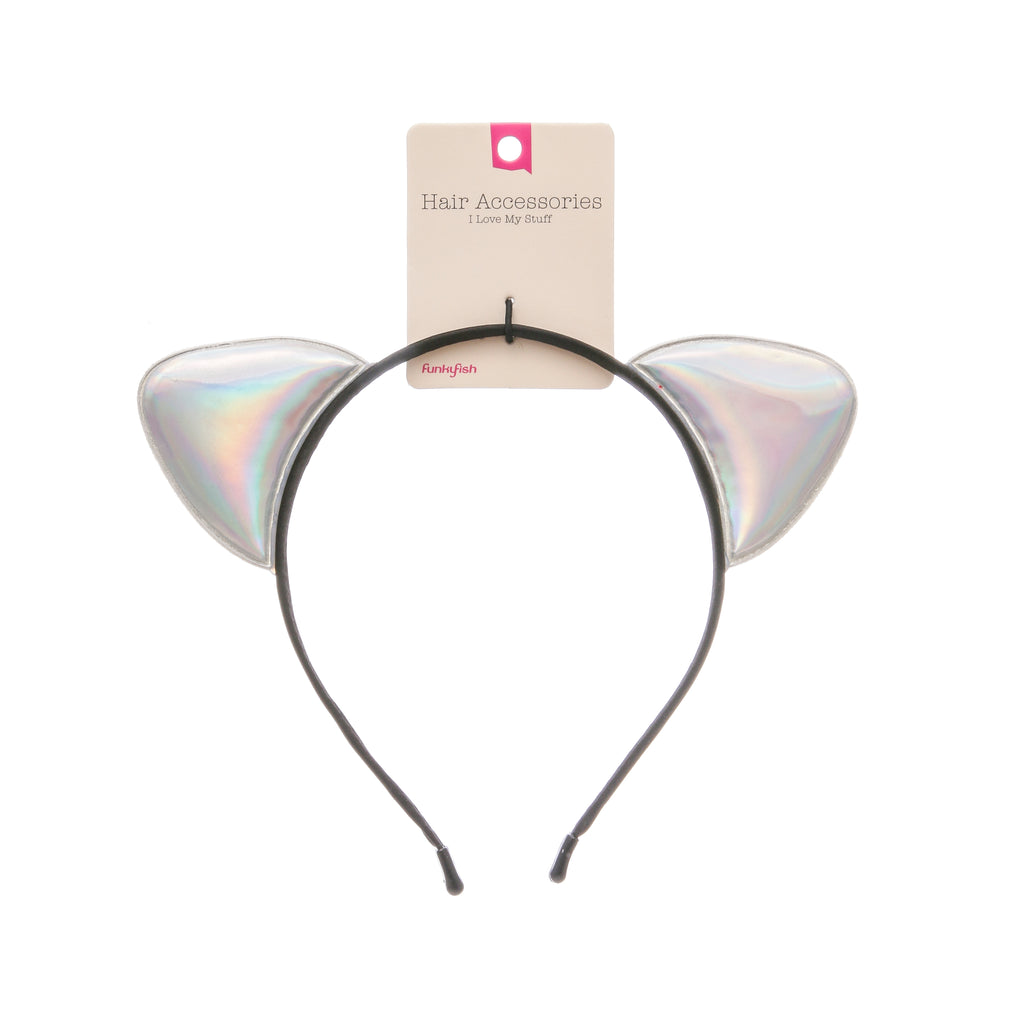 Holographic Cat Ears Head Band - Funky Fish Trinidad