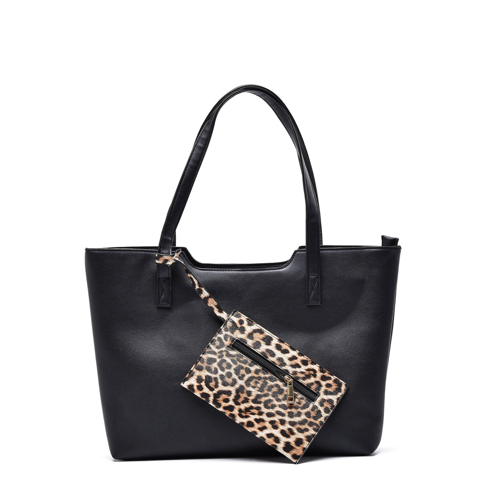 Black Leather Hand Bag - Funky Fish Trinidad