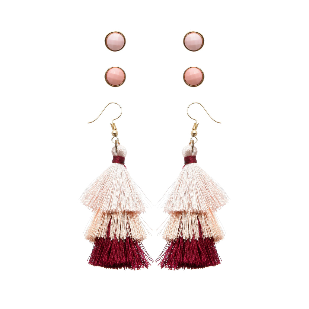 Tassel Earring Set by Funky Fish - Funky Fish Trinidad