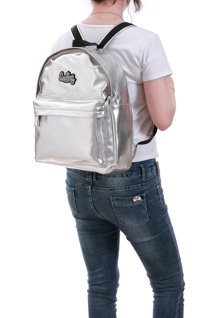 Smiling Silver Backpack - Funky Fish Trinidad
