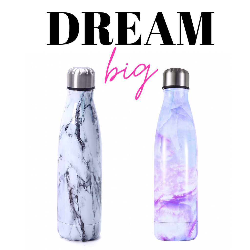 Stainless Steel Marble Bottles - Funky Fish Trinidad