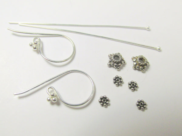 Silver Beads and Findings