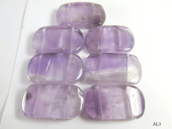 Amethyst Semiprecious Stone Two Hole Wedge Beads 7 Piece Set-Jewelry Beads-AL3-Odyssey Cache