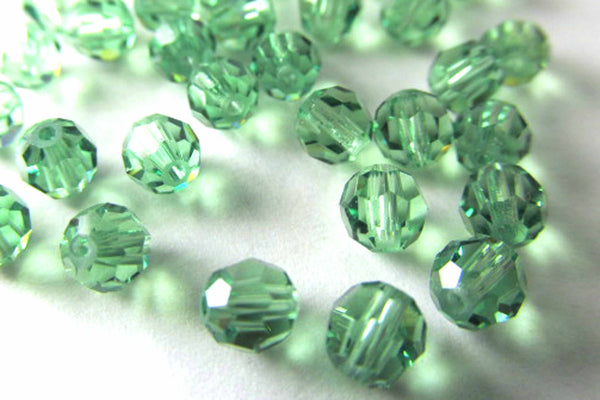 Erinite Green Swarovski #5000 4mm Round Beads (25)-Jewelry Beads-Odyssey Cache
