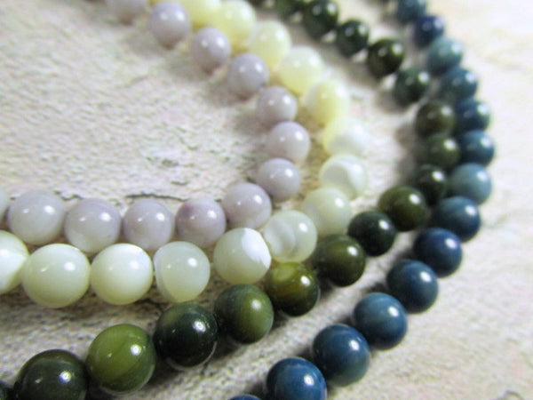 Mother of Pearl 6mm Round Shell Jewelry Beads - Odyssey Cache
