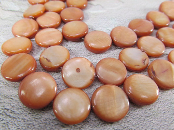Mother of Pearl 11mm Flat Round Coin Shell Jewelry Beads - Odyssey Cache - 5