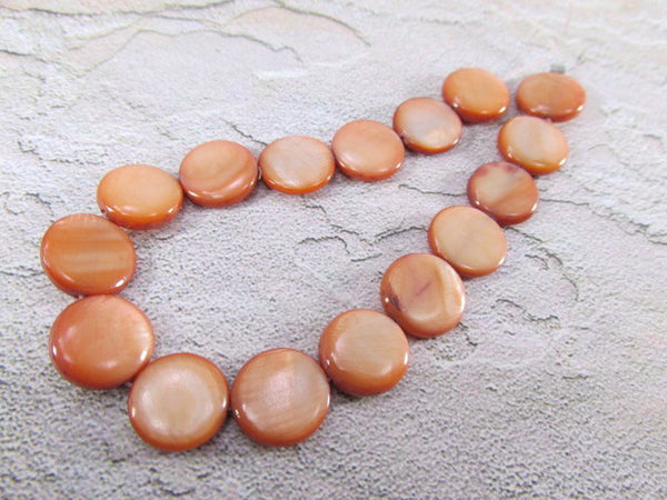 Mother of Pearl 11mm Flat Round Coin Shell Jewelry Beads - Odyssey Cache - 7