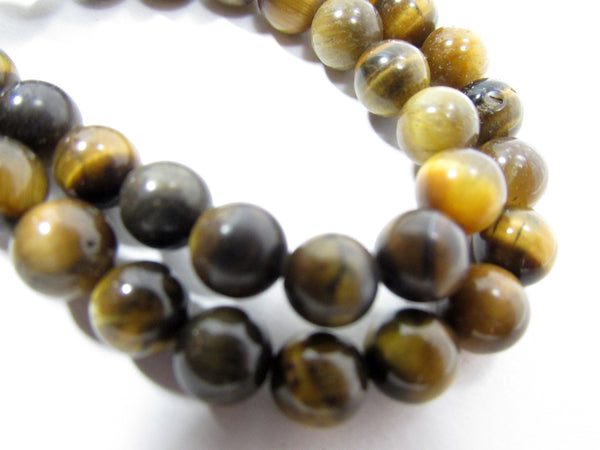 Tigers Eye Golden Brown 6mm Round Semiprecious Stone Beads (30)-Jewelry Beads-Odyssey Cache