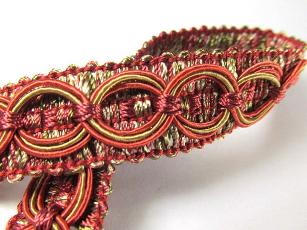 Circle Patterned 3/4 inch Fancy Braided Home Decorator Gimp Trim in 9 Colors - Odyssey Cache - 6