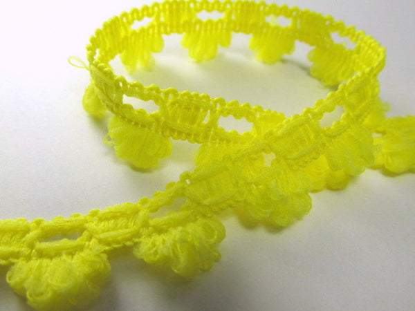 Soft and Fuzzy 15mm Scalloped Trim in Yellow or Pink Coral-Trims-Yellow-Odyssey Cache