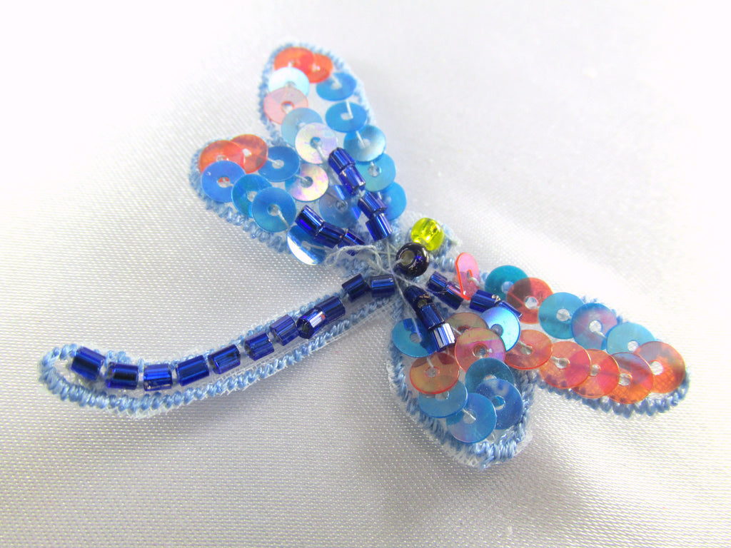 Dragonfly Iron on Appliques in 4 Colors (1)-Appliques-Blue Coral-Odyssey Cache