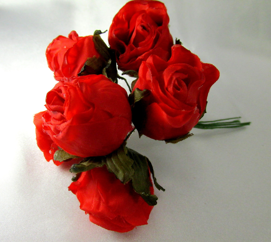 Red Silk Rose Millinery Bridal Or Craft Flowers Odyssey Cache