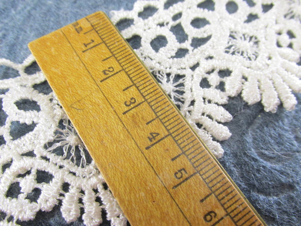 Ivory 1.75 inch wide Fringed Scalloped Venise Lace Bridal, Costume or Decorator Trim by the yard-Trims-Odyssey Cache
