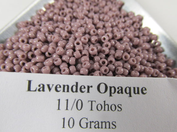 Lavender Opaque 11.0 Glass Toho Seed Beads (10 grams)-Jewelry Beads-Odyssey Cache