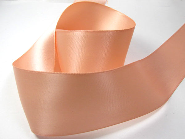 Light Peach 1.5 inch wide Polyester Double Sided, Double Faced Bridal Satin Ribbon (5 yards)-Ribbon-Odyssey Cache