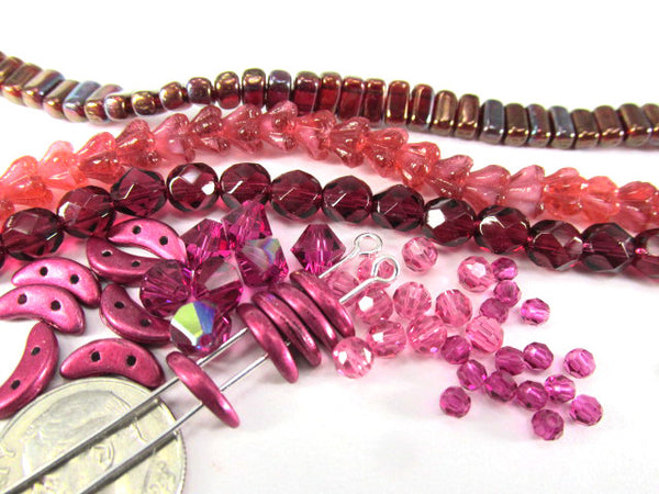 Pearl Fuchsia Czech Glass 6mm Baby Bell Flower Beads-Jewelry Beads-Odyssey Cache