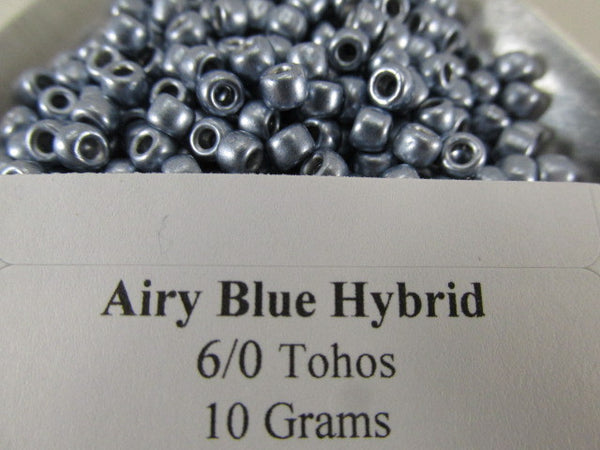 Airy Blue Hybrid Color Trends Size 6.0 Toho Glass Seed Beads (10 grams)-Jewelry Beads-Odyssey Cache