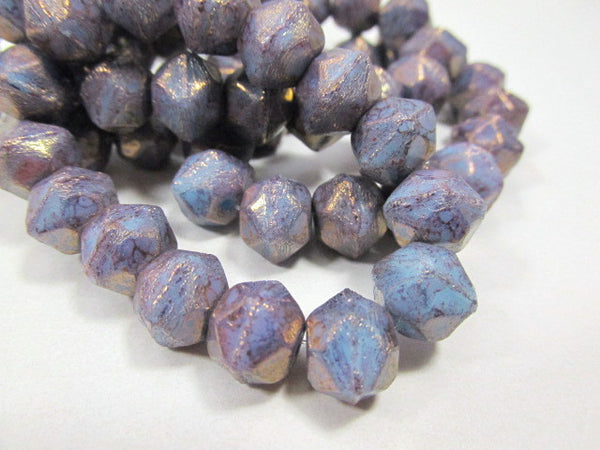 Amethyst Purple Blue 10mm Czech English Cut Faceted Beads-Jewelry Beads-5 beads-Odyssey Cache