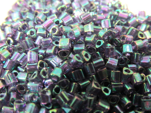 Tanzanite Teal Gold Luster 11.0 Glass Toho Triangle Seed Beads (10 grams)-Jewelry Beads-Odyssey Cache