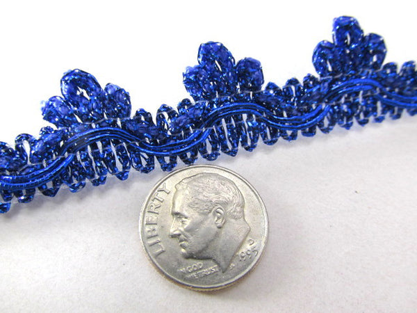 Metallic Cobalt Blue or Red 20mm Edging or Border Scalloped Fringed Trim-Trims-Red-Odyssey Cache