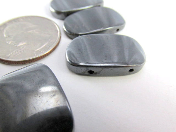 Hematite Semiprecious Stone Large Wedge Double Drilled 7 Piece Set - Odyssey Cache