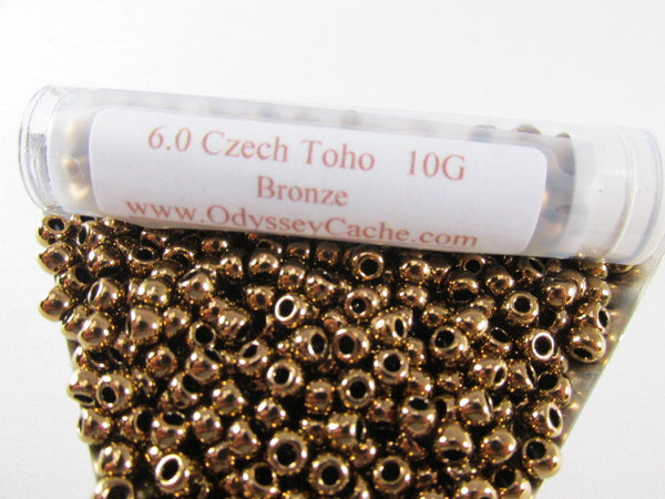Bronze Metallic Finish 6.0 Toho Seed Beads (10 grams) - Odyssey Cache