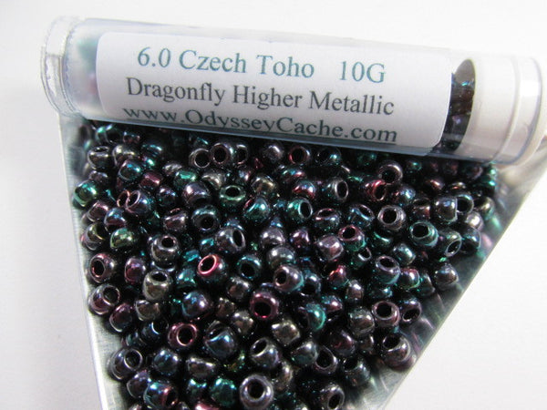 Dragonfly Higher Metallic 6.0 Glass Toho Seed Beads (10 grams) - Odyssey Cache