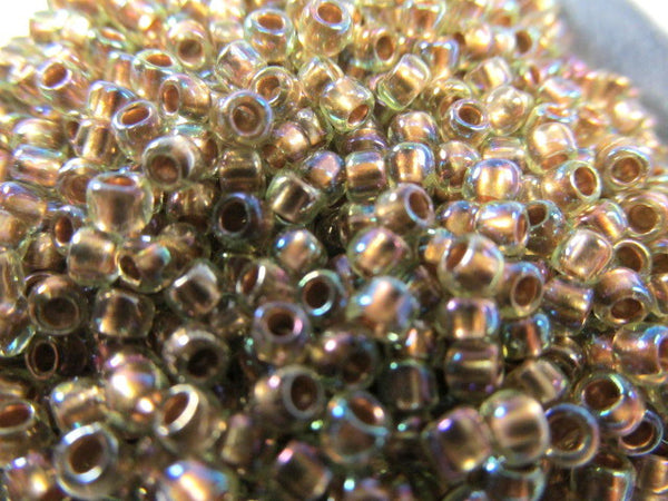 Jonquil Gold Lined Rainbow 8.0 Toho Seed Beads (10 grams)-Jewelry Beads-Odyssey Cache