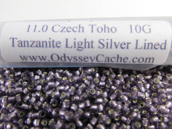 Tanzanite Light Silver Lined 11.0 Glass Toho Seed Beads (10 grams) - Odyssey Cache