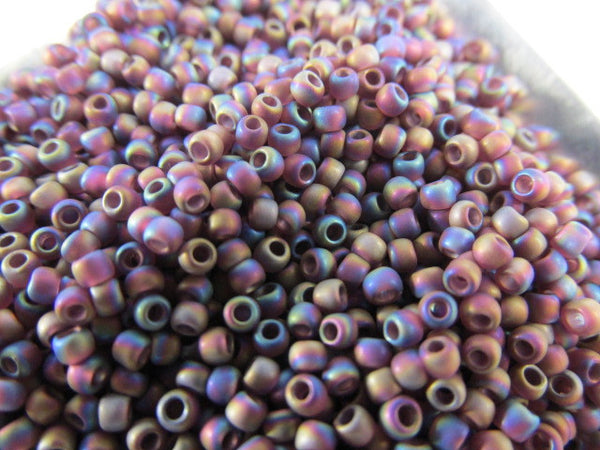 Amethyst Transparent Rainbow Frost 11.0 Glass Toho Seed Beads (10 grams)-Jewelry Beads-Odyssey Cache