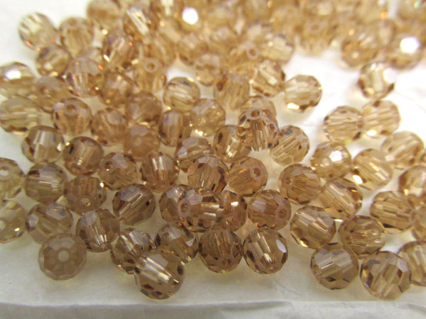 Light Colorado Topaz Swarovski 5000 4mm Round Jewelry Beads (15 beads)-Jewelry Beads-Odyssey Cache