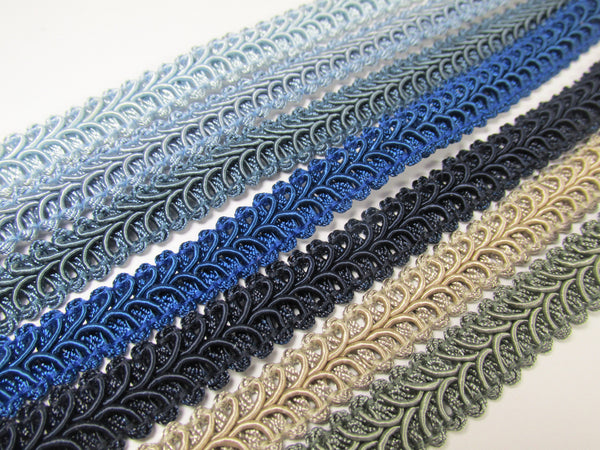 1/2 Inch Heavy Upholstery Quality Raised Gimp Trim in 38 colors - Odyssey Cache - 5