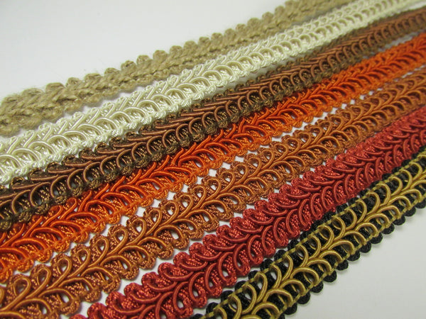 1/2 Inch Heavy Upholstery Quality Raised Gimp Trim in 38 colors - Odyssey Cache - 6