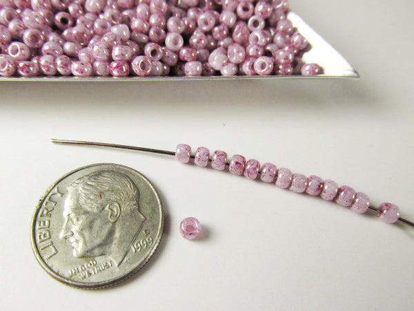 White Pink Opaque 8.0 Toho Czech Glass Seed Beads (10 grams)-Jewelry Beads-Odyssey Cache