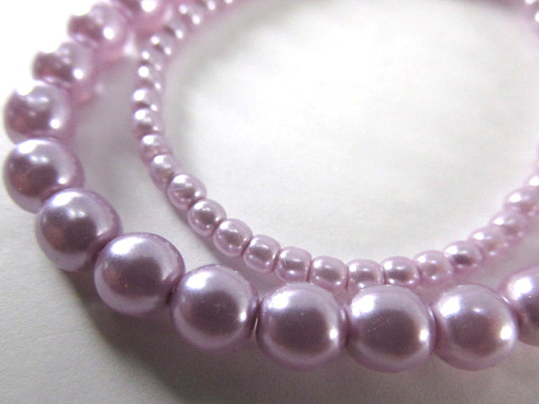 3mm or 6mm Light Lilac Lavender Luster Pearl Round Druk Czech Glass Jewelry Beads - Odyssey Cache