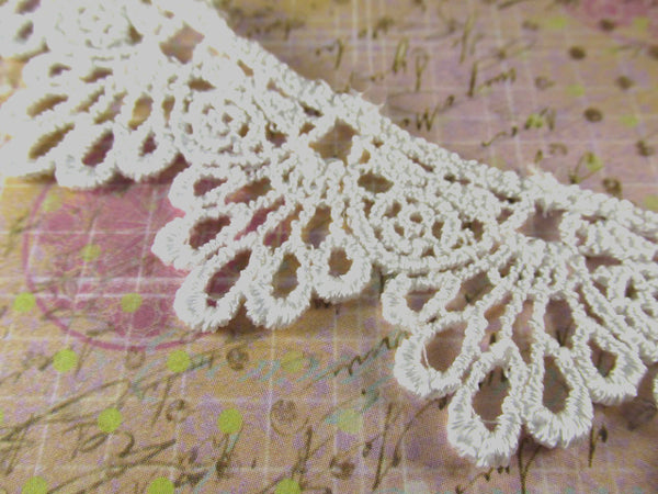 Ivory 30mm Scalloped Venise Lace Bridal Trim-Trims-Ivory-Odyssey Cache