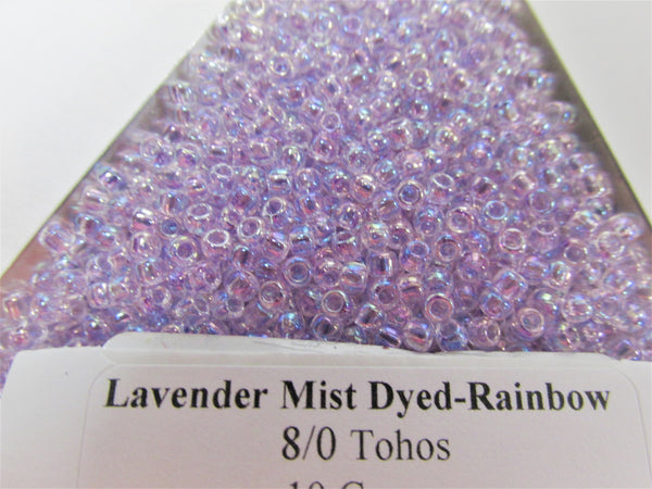 Lavender Mist Dyed Rainbow Size 8/0 Toho Glass Seed Beads (10 grams)-Jewelry Beads-Odyssey Cache