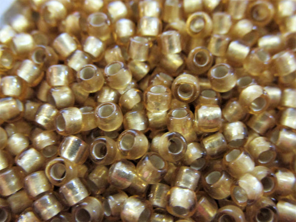 Silver Lined Topaz Frosted size 8/0 Toho Glass Seed Beads (10 grams) - Odyssey Cache