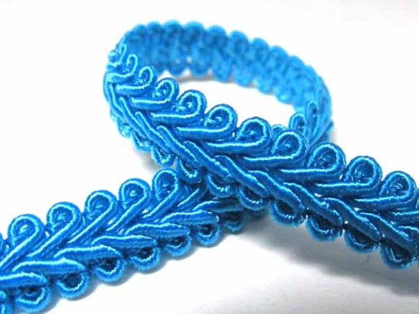 1/4 Inch or 8mm Flat Scroll Romanesque Gimp Trim in 19 colors-Trims-Turquoise-Odyssey Cache