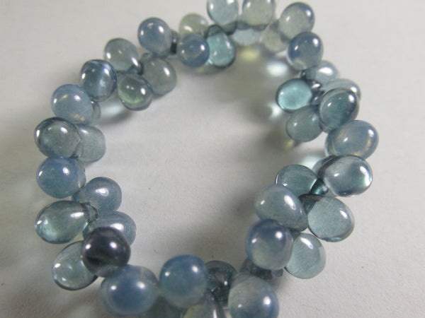Denim Blue Czech Glass 5 x 7mm Teardrop Jewelry Beads - Odyssey Cache